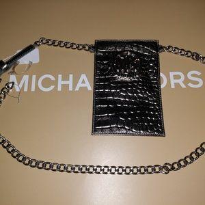 Michael Kors Silver Fanny Pack Belt Size Medium